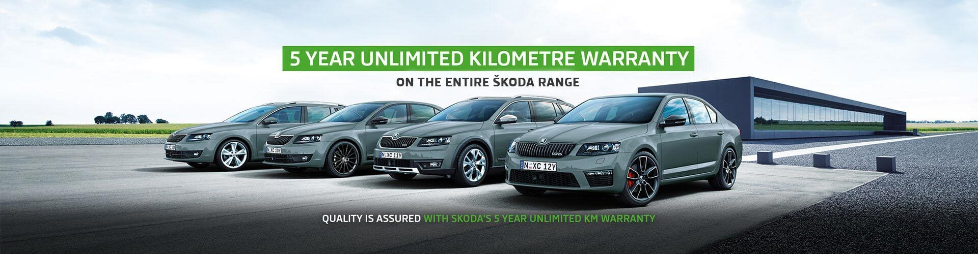 5 year unlimited kilometre warranty