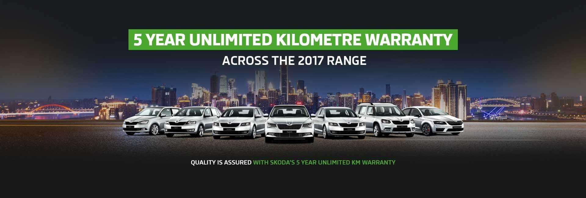 Skoda 5 Years Warranty