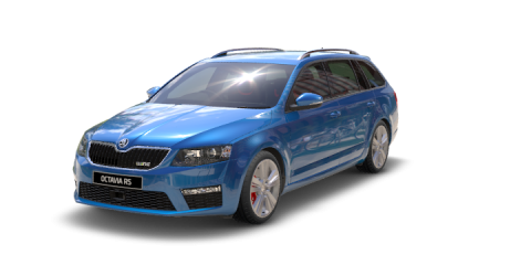 octavia wagon rs race blue metal 60