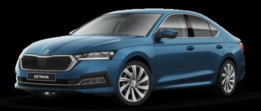 New Škoda Octavia Blue with Side View