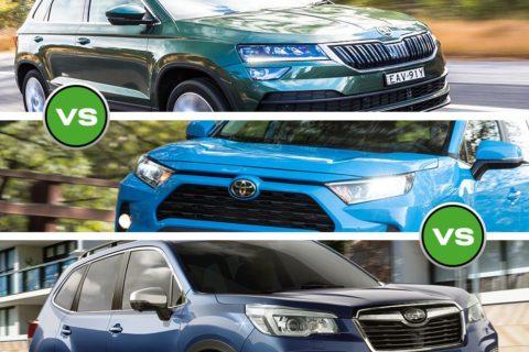 Skoda Karoq vs Toyota RAV4 vs Subaru Forester